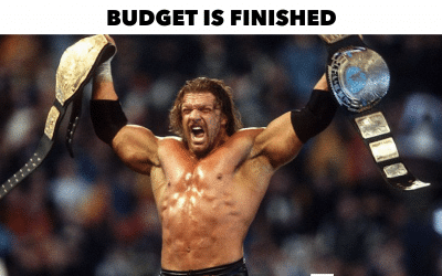 That feeling you get when you've finished the budget